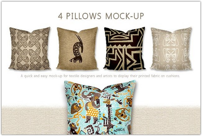 Multiple Pillow/Cushion 4 in a row