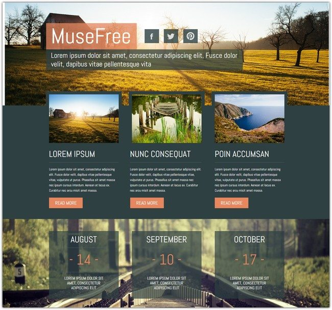 Muse Theme Template