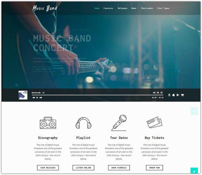 Music Band Live Event & Music Club WordPress Theme