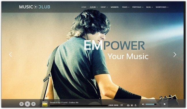 Music Club - Music Band Club Party WordPress Theme