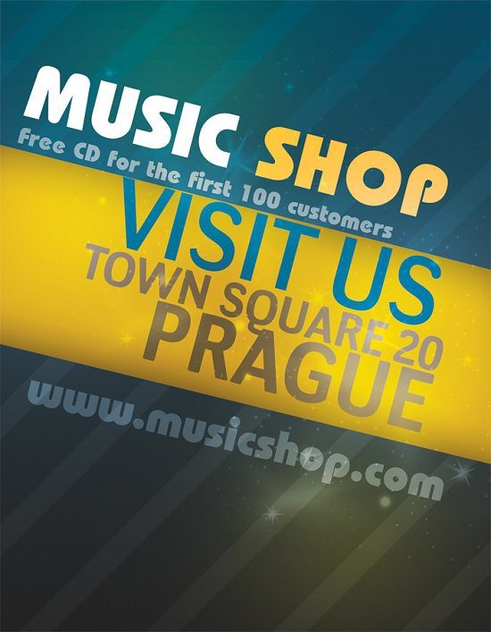 music-shop-flyer-psd
