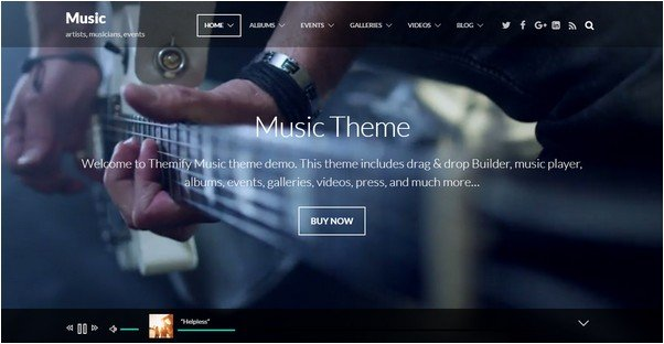Music Themify Theme