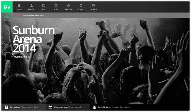 MusicVent- Premium Music & Event Html5 Template