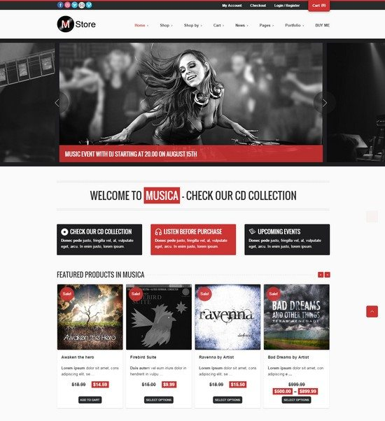 Musica – Responsive WordPress WooCommerce Theme