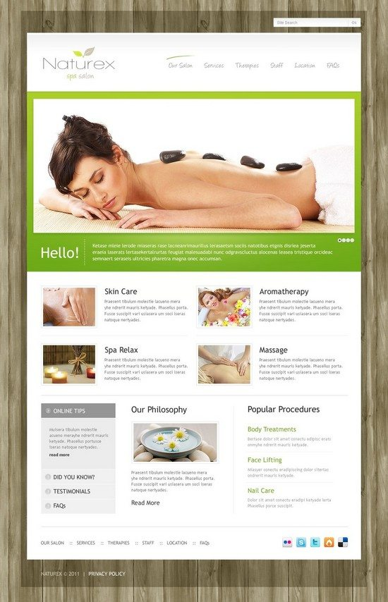 NATUREX Beauty Salon WordPress Theme