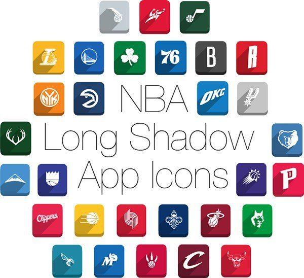 NBA-Long-Shadow-Icons