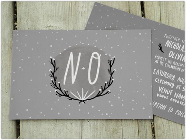 N+O Wedding card