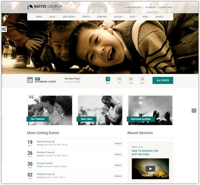 NativeChurch – Multi Purpose WordPress Theme