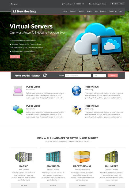 NewHosting - Responsive Hosting Css3 Html5 Theme