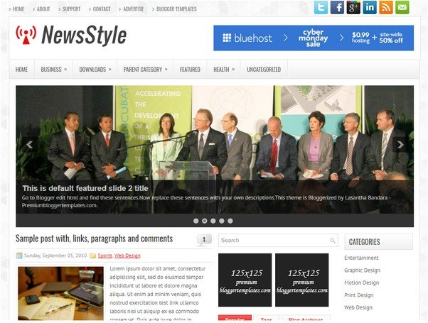 NewsStyle Blogger Template