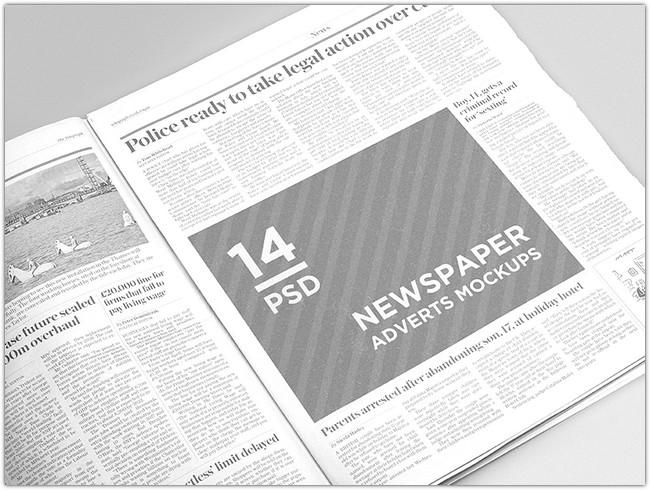 Newspaper Adverts Mockups # 2