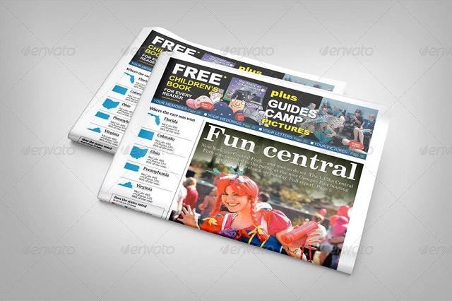 Newspaper Display Mockup