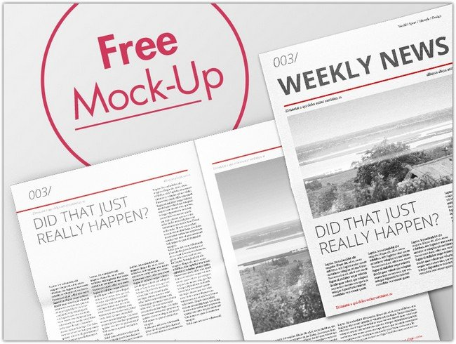 Newspaper Mock-Up Free