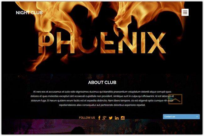 Night Club WordPress Theme #2