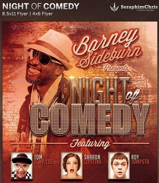 Night of Comedy Flyer Template