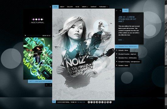 Nocturnal Premier Audio WP Theme