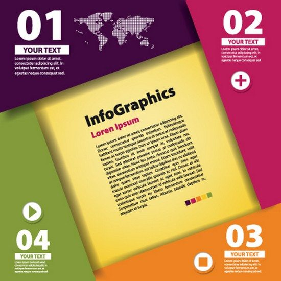 Numbered Infographic design vector 02