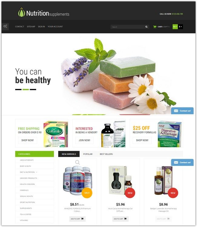 Nutrition Products PrestaShop Theme