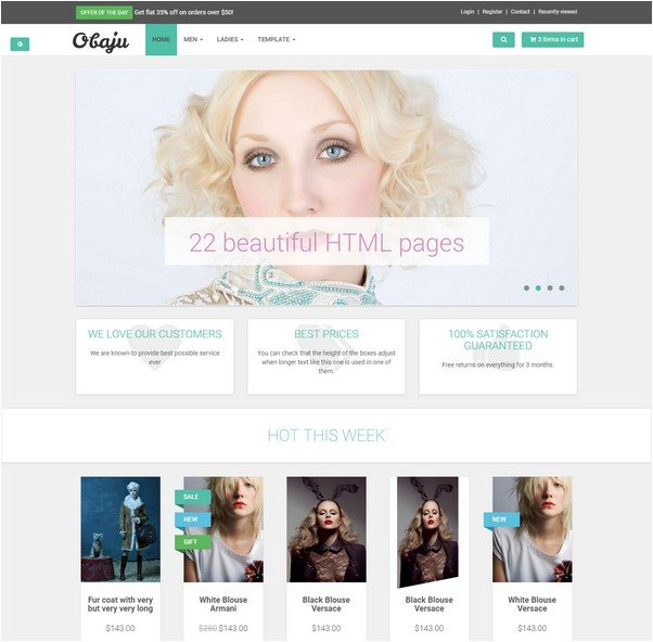 OBAJU E-COMMERCE TEMPLATE