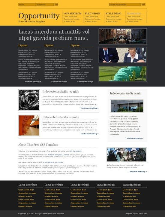 OPPORTUNITY FREE CSS TEMPLATE