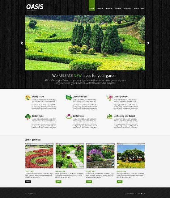 Oasis Landscape Design Responsive Joomla Template