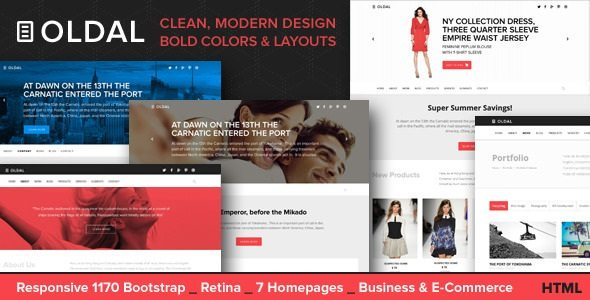 Oldal - Responsive HTML5 Business Template