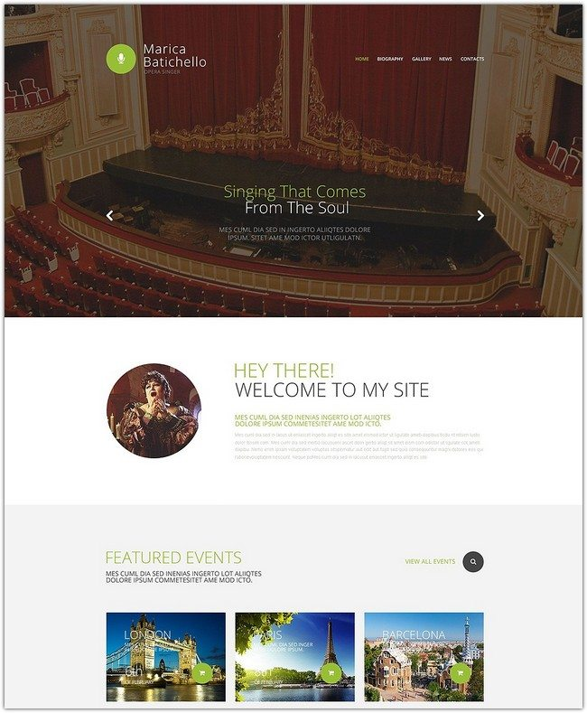Opera Singer Website Template
