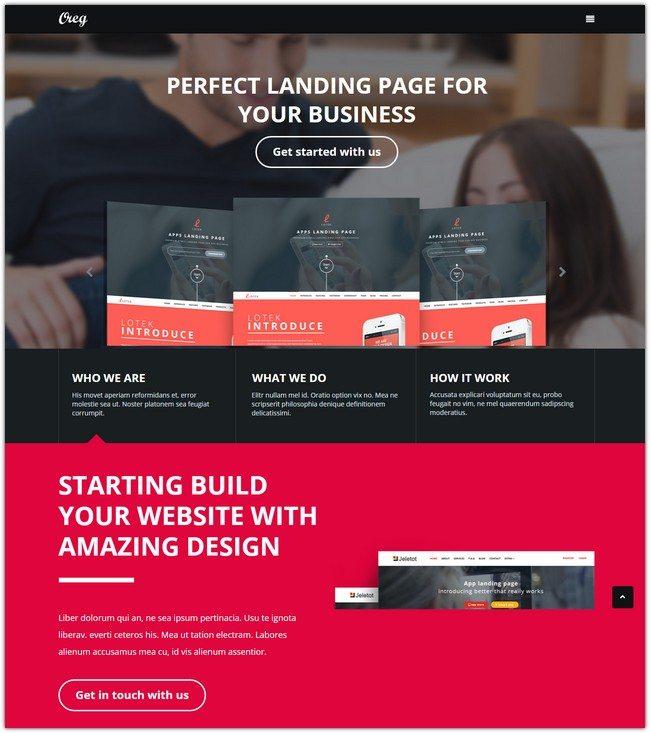 Oreg - Modern and Multi-purpose Landing Page Muse Template
