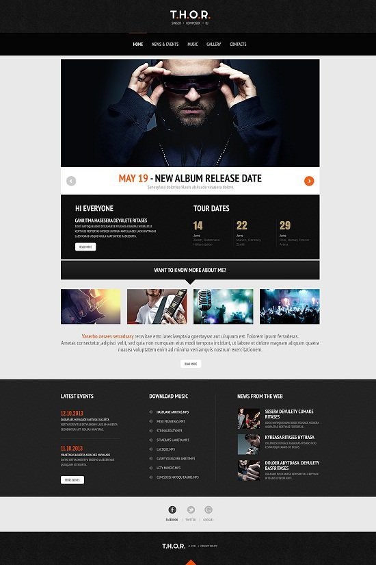 Original Singer WordPress Theme