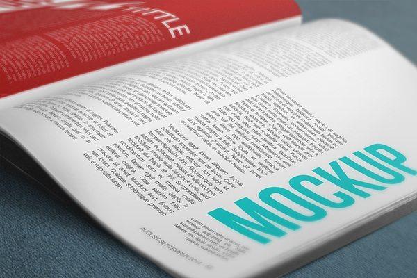 PSD Mockup 4K Magazine