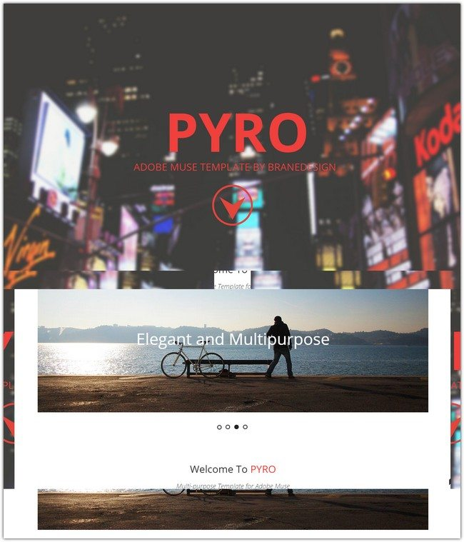 PYRO Multipage Muse Template