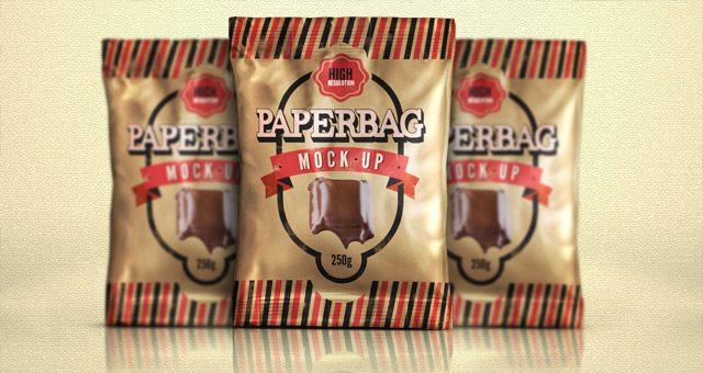 Paper Bag Mock-Up Template Psd