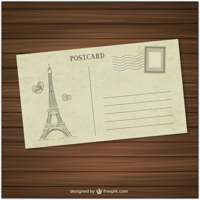 Paris Postcard Free Vector
