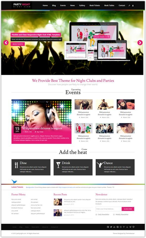 Party Night – Night Club HTML Template