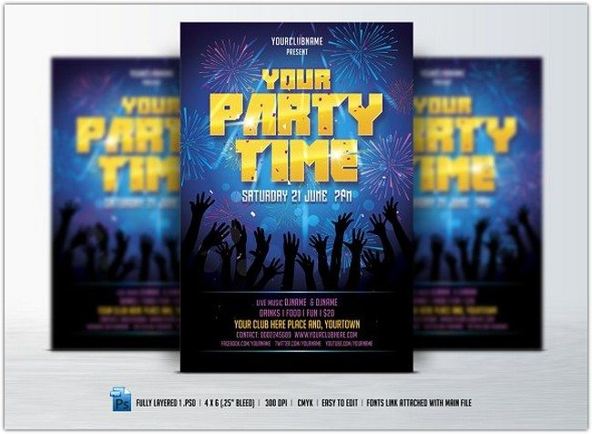 Party Time Flyer