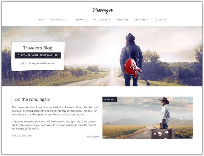 Passenger - Travelers WordPress Theme