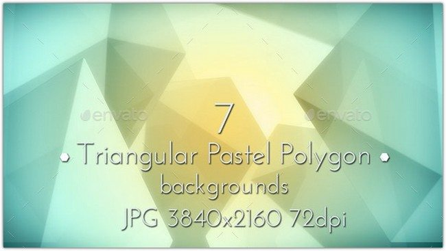 Pastel Polygon Background