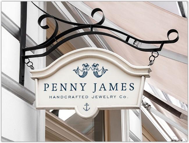 Penny James Signage Mockup