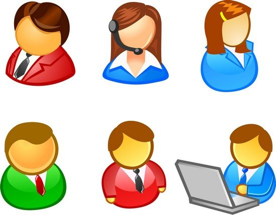 People user icon vector free vector