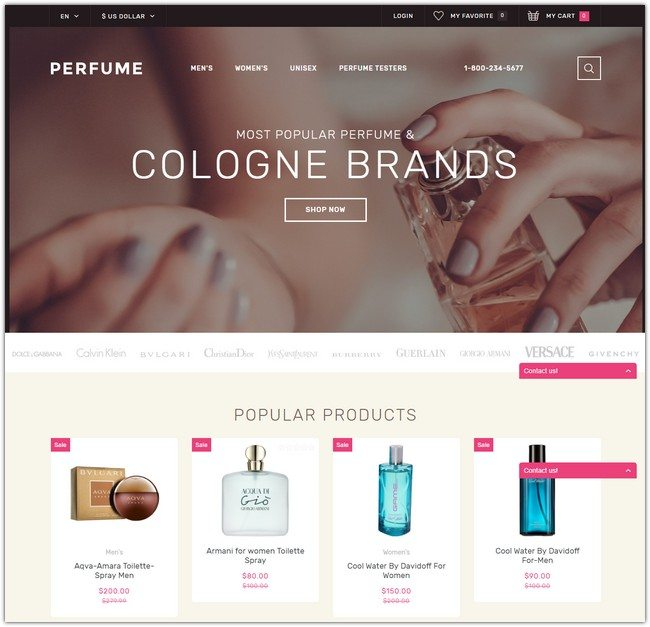 Perfume Shop OpenCart Template