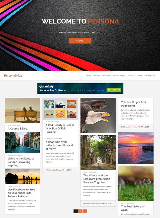 Personal Mag Responsive Blogger blog theme