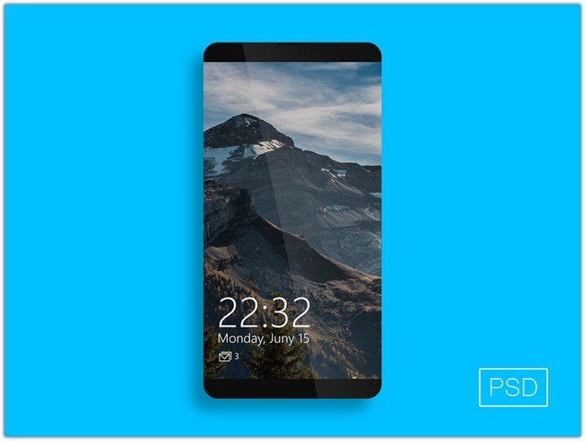 Phone PSD template