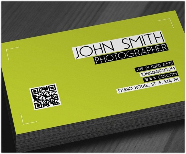 Photographer identity Card PSD Template
