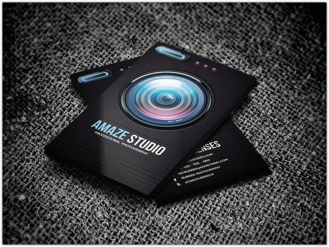 Photographer Lens Theme Card