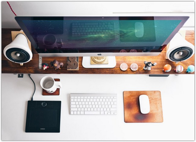 Photorealistic iMac Workspace Mockup