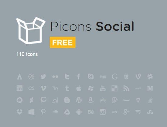 Picons Social FREE 80 icons