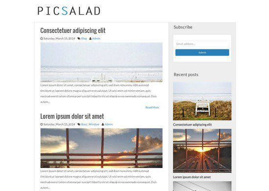 Picsalad - Free Responsive Blogger Blogging Template