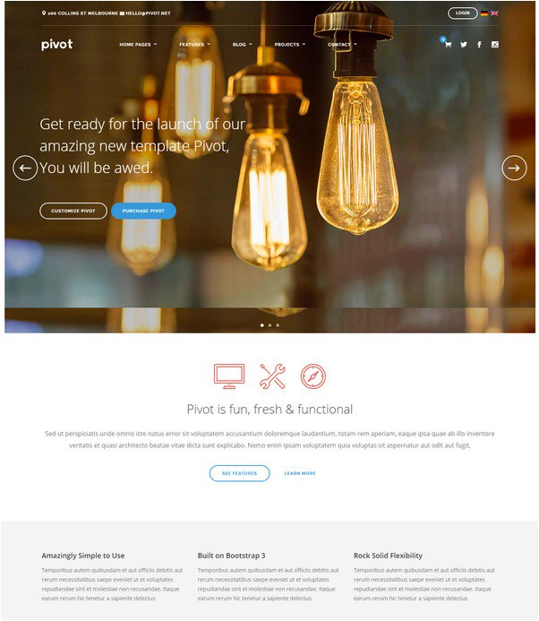 Pivot Responsive Multipurpose WordPress Theme