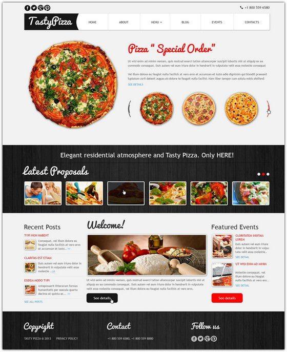 Pizza to Kill Hunger Joomla Template