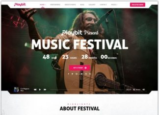Music HTML5 Website Template